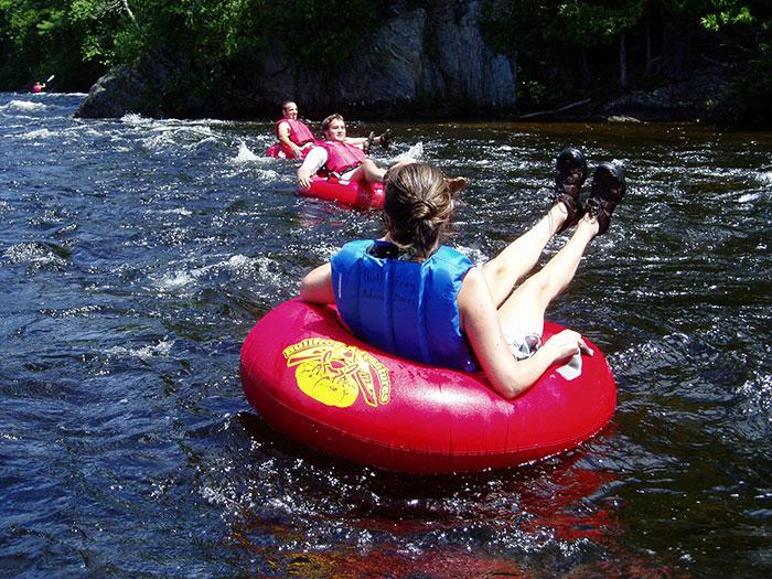 Bullfrog Adventures Kennebec River Tubing Trip Maine River